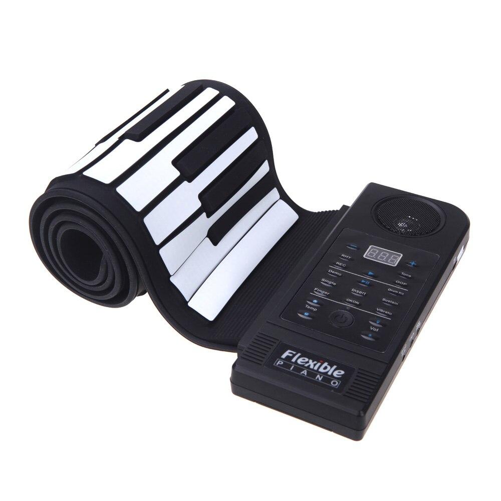 XFDZ Flexible Piano 61 teclas Piano eléctrico teclado enrolladas Piano mantener la función de puerto USB con altavoz (nos enchufe
