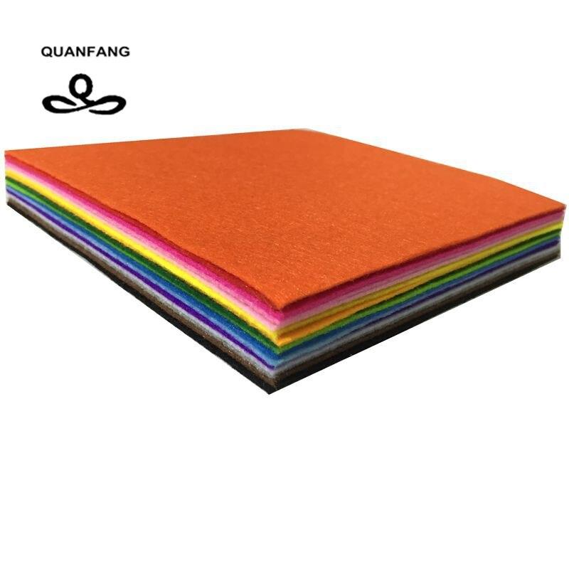 Nueva tela de fieltro de 1mm de espesor fieltros de tela de poliéster de decoración del hogar Paquete de patrones para muñecas para coser manualidades 15x15cm