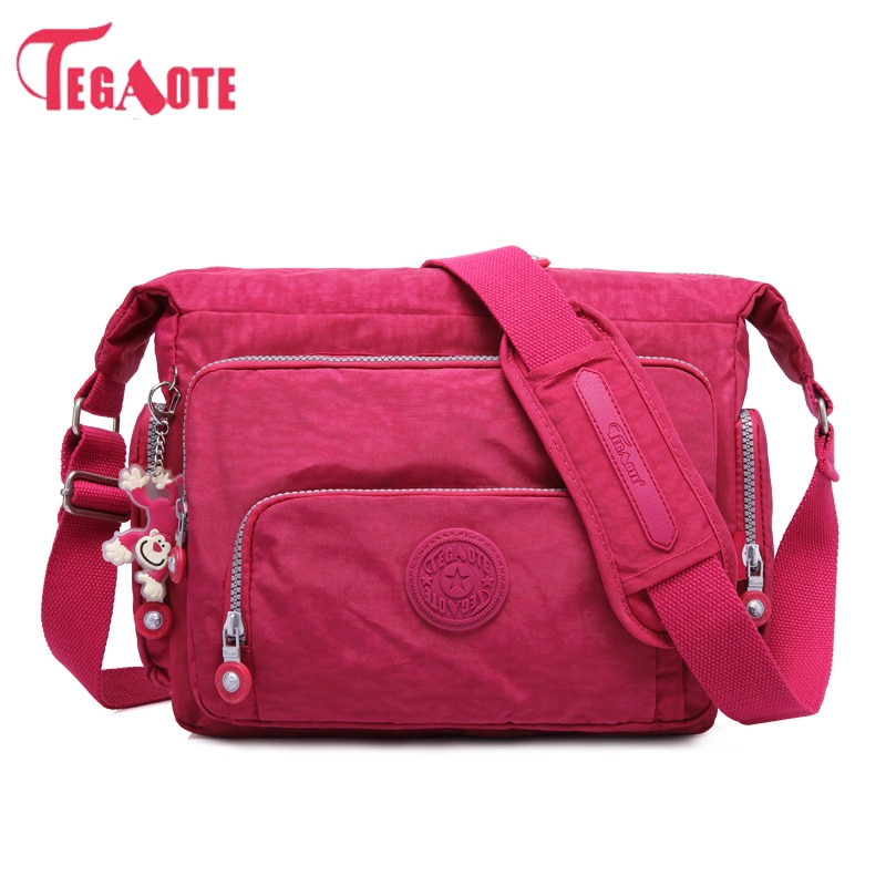TEGAOTE, bandolera de lujo de nailon para mujer, bolso femenino, bolso de viaje a prueba de agua, bandolera para mujer