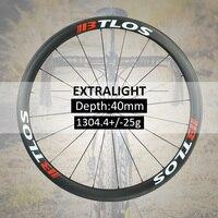 700c wheelset Lightest wheel 1304g Warranty 2 years Carbon wheels clincher road bike 40mm deep disc brake available - WRC-40L