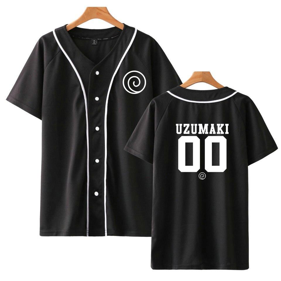 Популярная модная футболка с аниме Наруто, футболка с короткими рукавами для мужчин и женщин, унисекс, Бейсбольная Футболка, семейная брендовая одежда