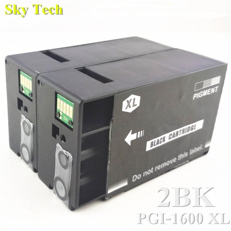 2 BK. Cartuchos de Tinta compatíveis Para PGI1600XL PGI-1600XL, terno Para Canon MAXIFY MB2360 MB2060 Impressora etc