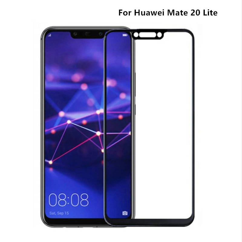 1PCS Full Glue Coverage Glass For Huawei Mate 20 Screen Protector Coverage Protective Film For Mate