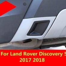 Tylna rura wydechowa dekoracyjna tarcza płyta ochronna otoczona zewnętrznym zderzakiem tylnego zderzaka dla Land rovera Discovery 5 2017 2018