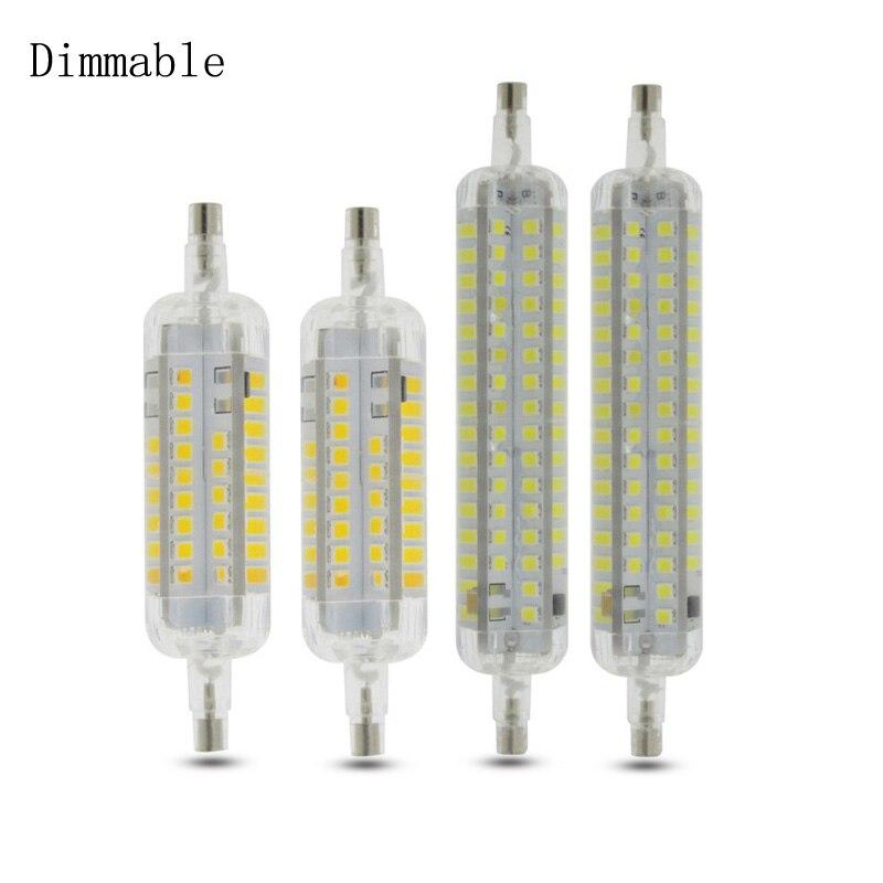 Silikon R7S J78 J118 Led-lampe Mais Lampe Dimmbare 78mm 118mm Ersetzen Halogen 12W 30W Scheinwerfer flutlicht AC 220V