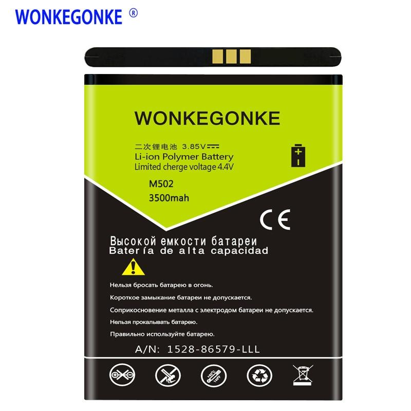 WONKEGONKE 3500 mah для батареи ARK Fruit M502 M505