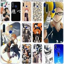 Chaude Anime Volley-Ball Haikyuu Doux Silicone Téléphone étui pour huawei Honneur 20 20i 10 9 8 Lite 8X 8C 8A 8 S 7 S 7A Pro View 20 Mode