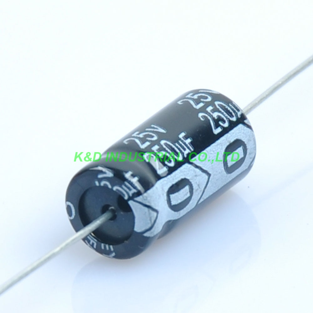 10 шт. 25В 250 мкФ Аксиальный электролитический конденсатор для Аудио ламповый усилитель для гитары DIY