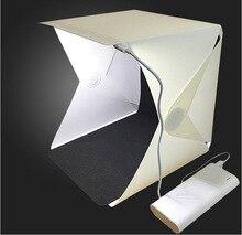 Caja de Luz Portátil Mini Softbox LED Estudio de foto caja de luz plegable fotografía Backgound fotografía Kit de tienda para dslr Accesorios