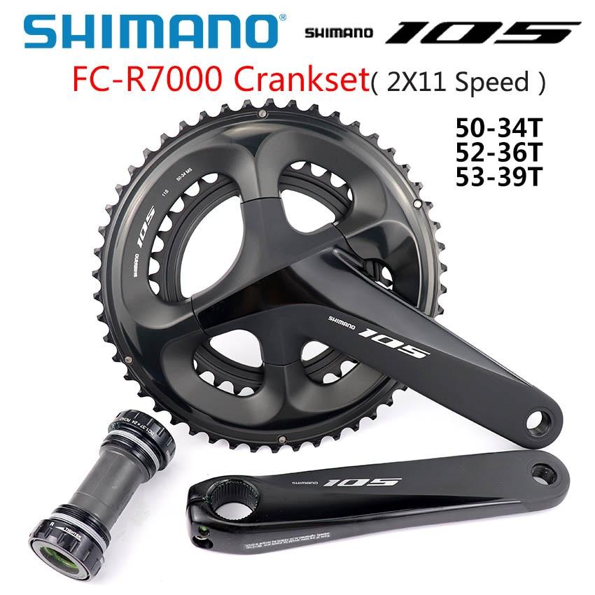 SHIMANO 105 FC R7000 Crankset 2x11-Speed HOLLOWTECH II CRANKSET 50-34T 52-36T 53-39T 165 مللي متر 170 مللي متر 172.5 مللي متر 175 مللي متر 5800