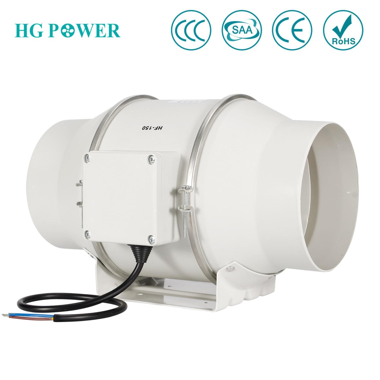 6 ''150 مللي متر عالية الكفاءة مضمنة القناة مروحة العادم مروحة مختلط تدفق المائية الهواء منفاخ للمنزل الحمام تهوية الدفيئة