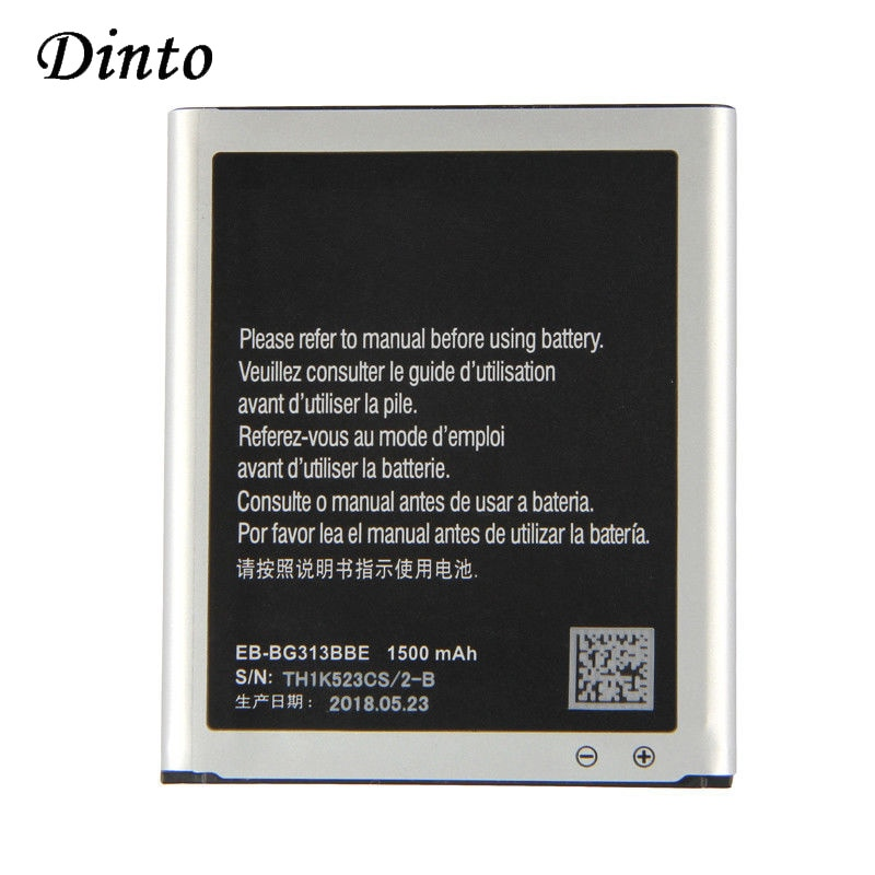 Dinto 1500mAh EB-BG313BBE batería del teléfono móvil para Samsung Galaxy ACE 3 3 ACE 4 neo G313H G318H S7272 s7898 S7562C G357 N9002