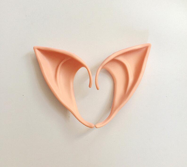 2 unids/lote Halloween orejas de elfo Cosplay traje Artificial orejas de elfo para niños fiesta de Halloween decoración DIY Props Elf oído