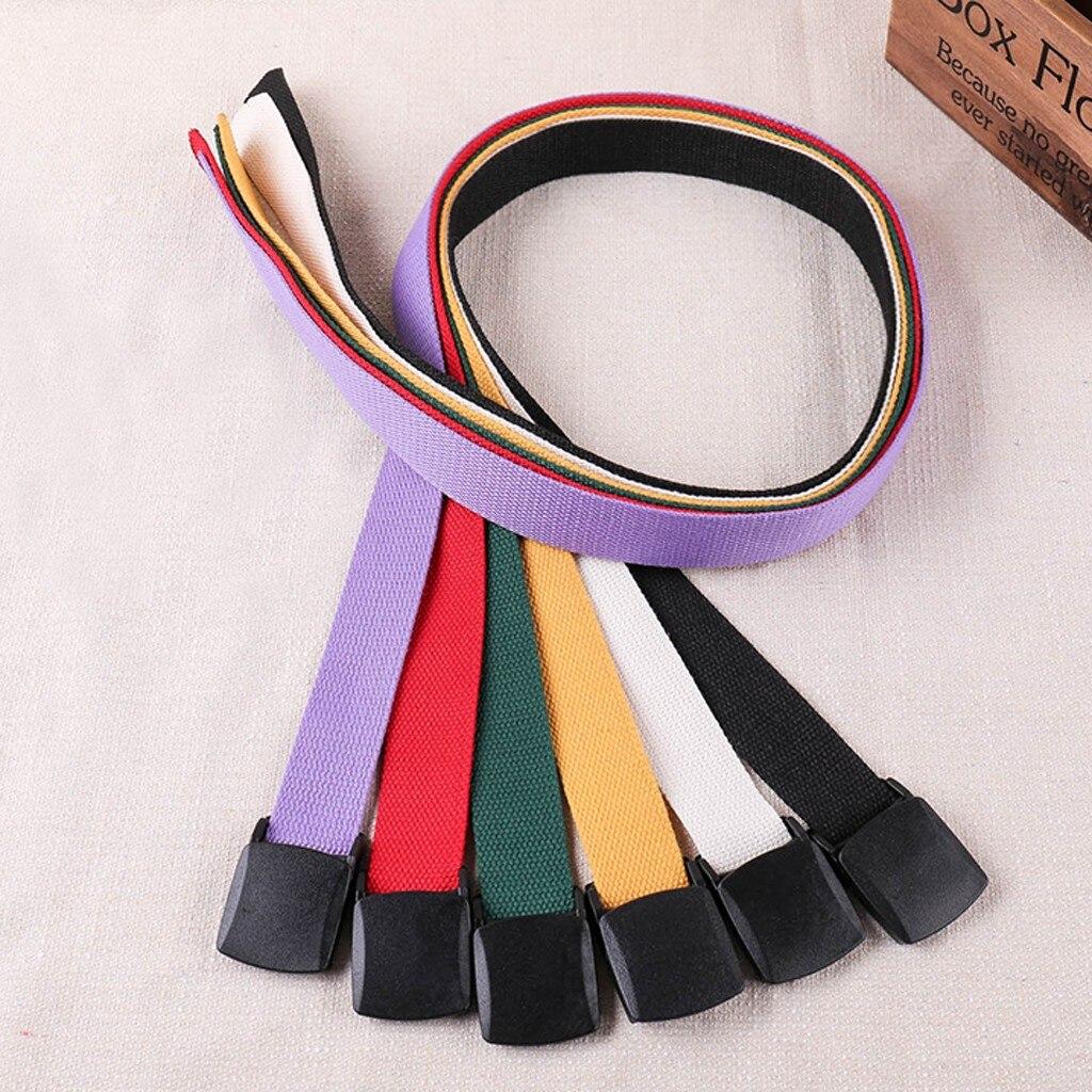 Cinturón de lona Streetwear Casual metal hebilla cinturón cintura moda Pantalones vaqueros mujeres cinturones para mujer