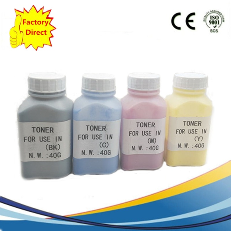 4x40g recarga láser kits de tóner en polvo de color para DELL E525W C3760n C3760dn C3765dnf 1250C 1350CNW 1355CN 1355CNW C1660W impresora