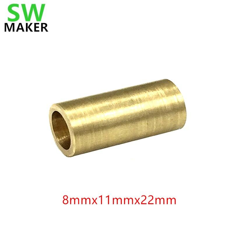 SWMAKE 8mm x 11mm x 22mm Ultimaker X Y eje bloque deslizante 8mm cojinete de cobre casquillo/manga 3D accesorio de impresora