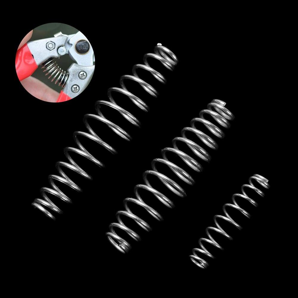 1/5 шт 3 размера качественная стальная пружина сжатия 3/5/6 см серебряная закаленная пружина стальная проволока садовые ножницы аксессуары инструмент