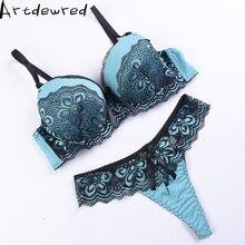 Artdewred dentelle ensemble de soutien-gorge femmes grande taille Push Up ensemble de sous-vêtements soutien-gorge et string ensemble 36 38 40 42 44 tasse AB pour femme