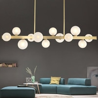 Modern LED pendant lights living room suspended lamp loft luminaires Nordic dining room lighting fixtures Copper hanging lights