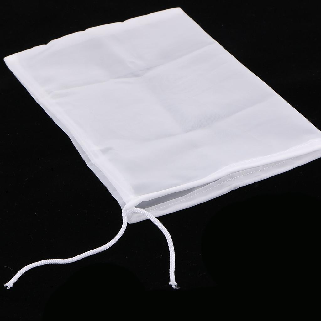1 Pcs Milk Coffee Juice Reusable Nylon Mesh Strainer Filter Bag Teaware Tool Tea Infusers for Cooking Straining Nut Milk 15x20cm