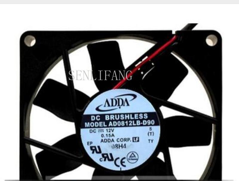 Envío Gratis 80*80*15 12V 0.15A AD0812LB-D90 dual ball CPU chasis ventilador de refrigeración