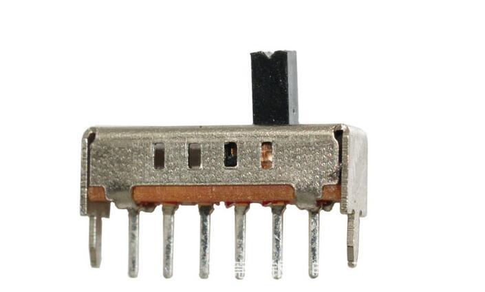 15 יחידות אנכי 1P4T מתג שקופיות 4 עמדה 6 פין DC 50 V 0.3A SS14D01