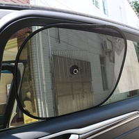 2Pcs רכב וילונות Mesh שמש גוונים לצד קדמי ואחורי חלון שמשיה UV חוסם קיץ מכוניות חום בידוד 44*36cm