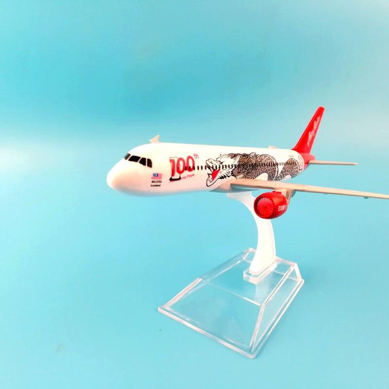 JASON tutú 16cm Air Asia Airbus 320 modelo de avión modelo 1400 regalo