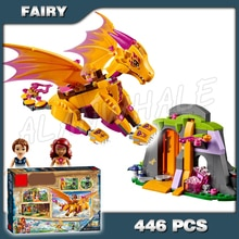 446 шт Огненный Дракон Лава пещера 10503 модель строительные блоки кирпичи подарочный набор игровой набор Девочки Игрушки совместимы с Лаго эл...