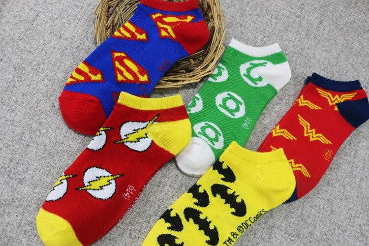 15Styles Superman Batman Cartoon Socks Women Men Socks The Flash Wonder Woman Green Lantern Ankle Casual Socks