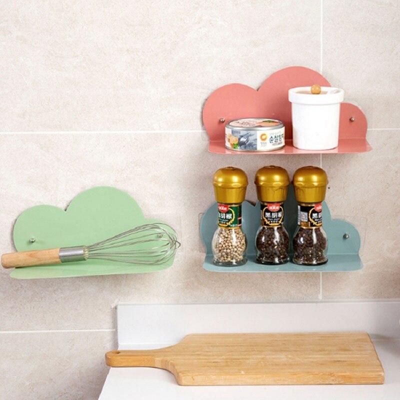 Soportes de almacenamiento de hierro forjado sin perforaciones para habitación de niños, Decoración de cocina, colgante de pared creativo de estilo europeo Simple