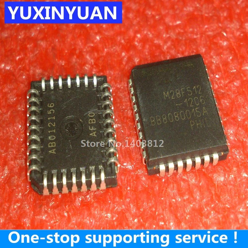 YUXINYUAN M28F512-12C6 M28F51212C6 M28F512 28F512 PLCC32 1-10 Uds