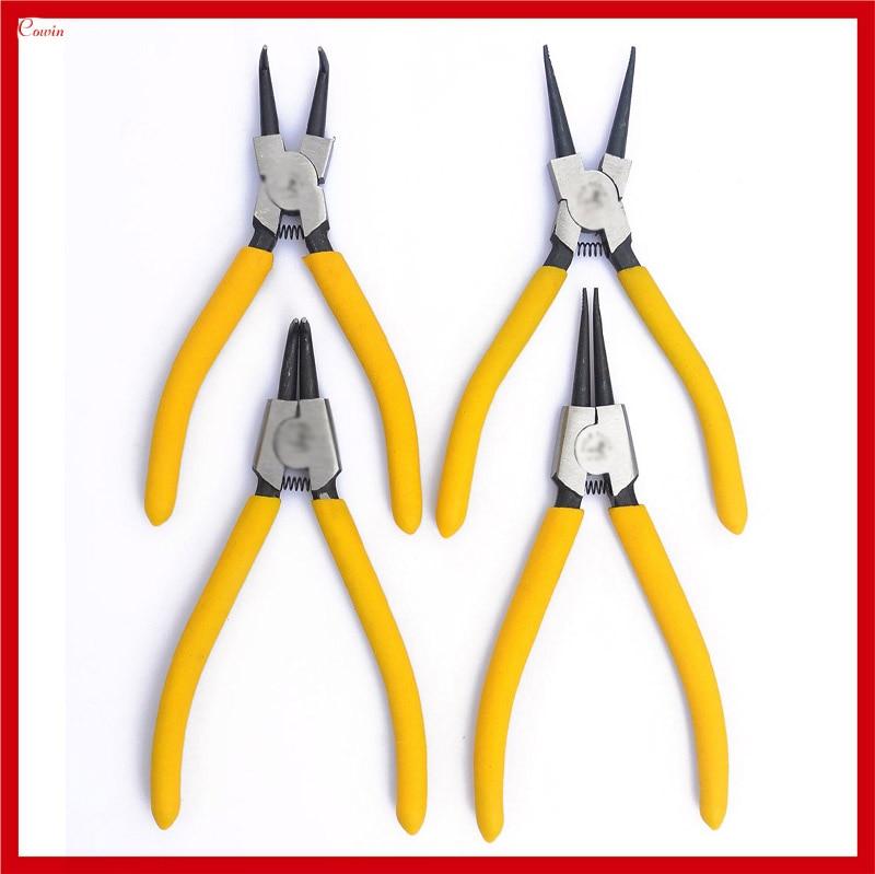 "New 7"" 4pcs/set External / Internal Straight Bent Handle Car Motorcycle Circlip Pliers Spring Remover Plier Tool"