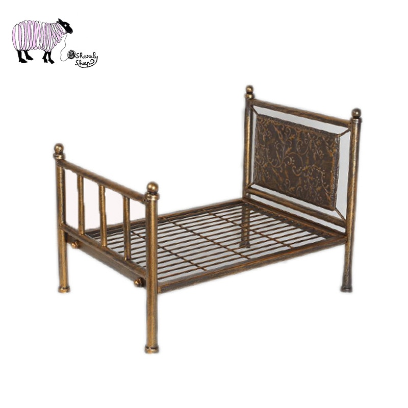 Newborn Baby Iron Bed Photography Props Infant fotografia Accessories Baby Girl Boy Photo Shoot Studio Posing Basket foto Props