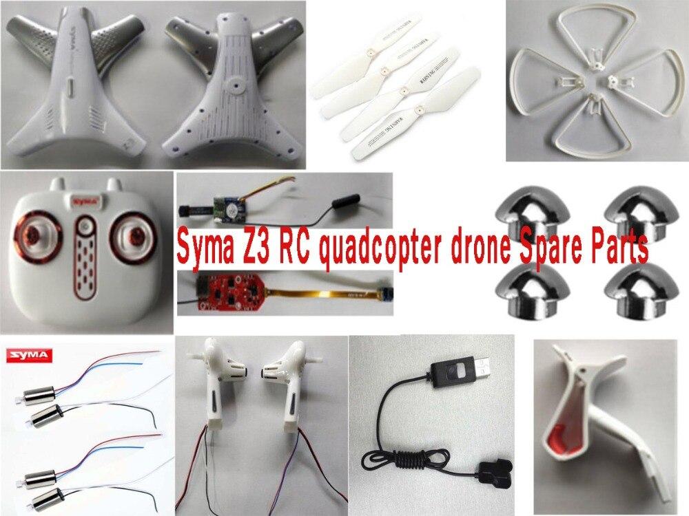 Syma Z3 RC quadricoptère drone pièces de rechange CW CCW moteur hélices lame garde télécommande récepteur caméra avant arrière bras etc.