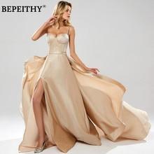 BEPEITHY Abendkleider paillettes a-ligne longue Robe De soirée fête élégante 2019 Robe De soirée bretelles Spaghetti robes De bal