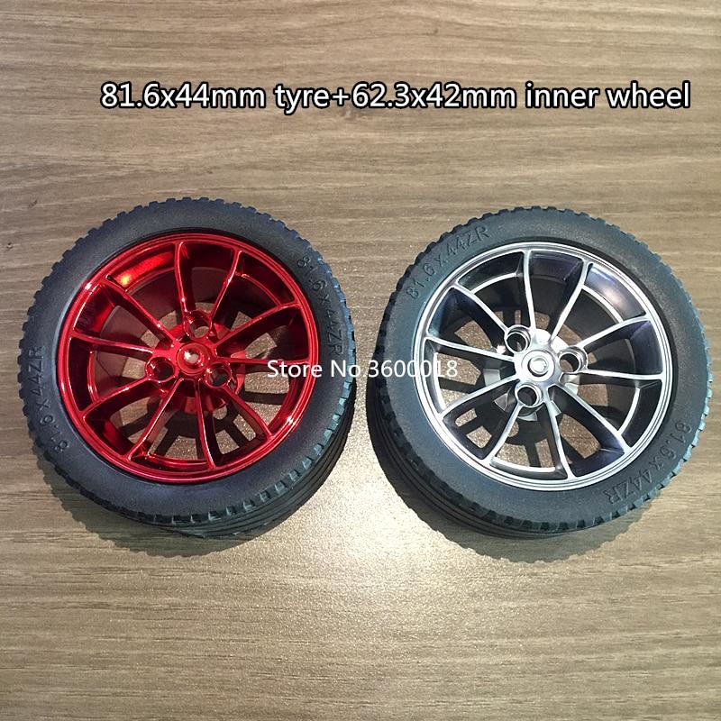 2set/lot Decool 3368 wheel technic tyre TECHNIC 81.6*44mmZR mechanical Compatible with 23799 23800 MOC DIY