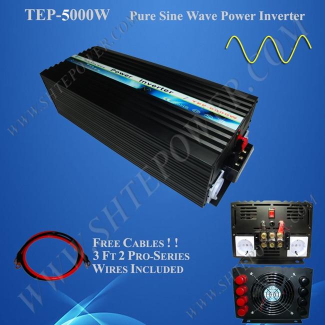 خارج الشبكة العاكس 5kw عاكس الطاقة 5000 واط 12 فولت إلى 240 فولت