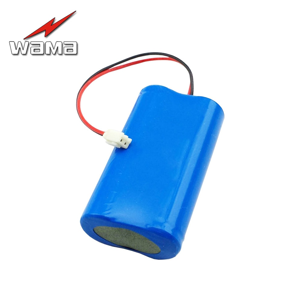 1x Wama 4000 мАч 18650 3,7 в литиевая аккумуляторная батарея 2S аккумулятор для рыбалки лампа фонарик факел DIY Замена