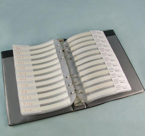 170valuesX50 piezas = 8500 piezas 0603 de 5% 0R-10M ohm SMD Kit de resistencia de RC0603 JR-07 serie muestra libro Kit de Muestra de fusible