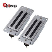 Duas linhas mini guitarra elétrica humbucker captador para lp guitarra chrome