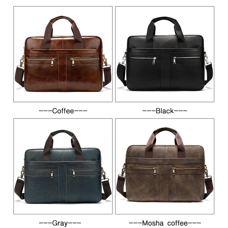 Чанта мъжко куфарче от естествена - Чанти за документи - Снимка 6