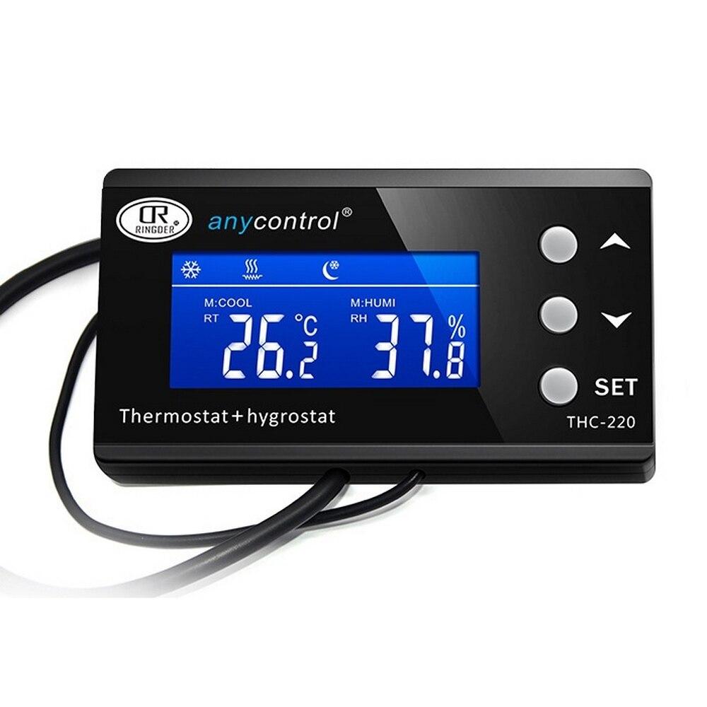 KT4000 termostato Digital para acuario, termostato Pet, enchufe de sincronización, controlador de temperatura a prueba de agua, modo de enfriamiento de calefacción de 2 etapas