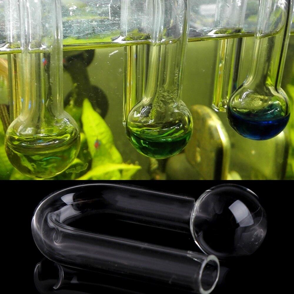 Bomba de aire de acuario transparente de 6cm, tanque de peces para colgar en el CO2, Monitor, Detector de cilindro de hierba, comprobador 2017