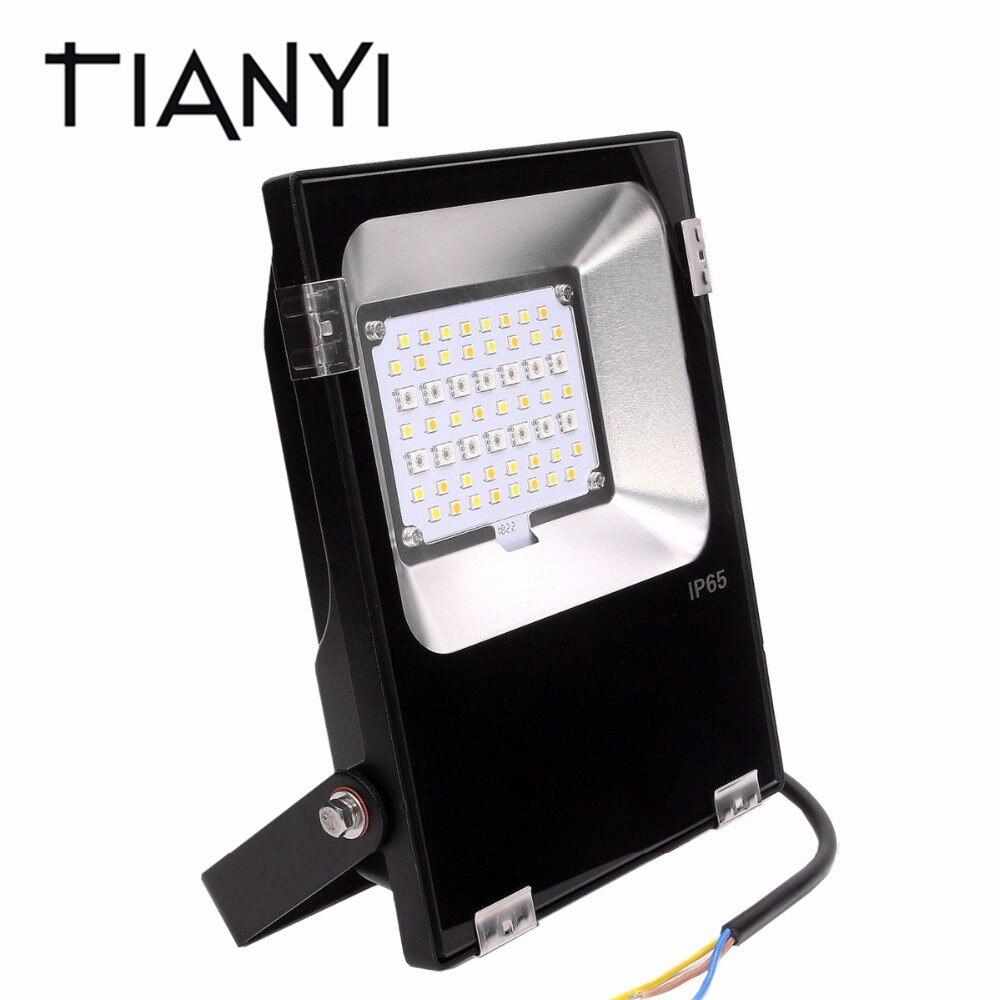 Mi luz 20 W llevó la luz de inundación RGB + AAC Reflector impermeable 110 V 220 V Reflector LED RGB CCT AC85-265V iluminación exterior