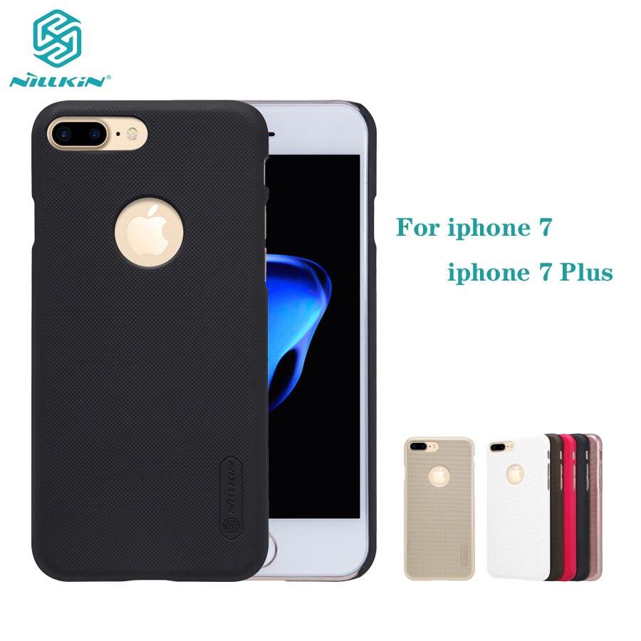 7 + para iphone 7 Plus carcasa Nillkin carcasa para teléfono cubierta trasera de PC duro protector súper esmerilado cubierta para iphone 7 Plus