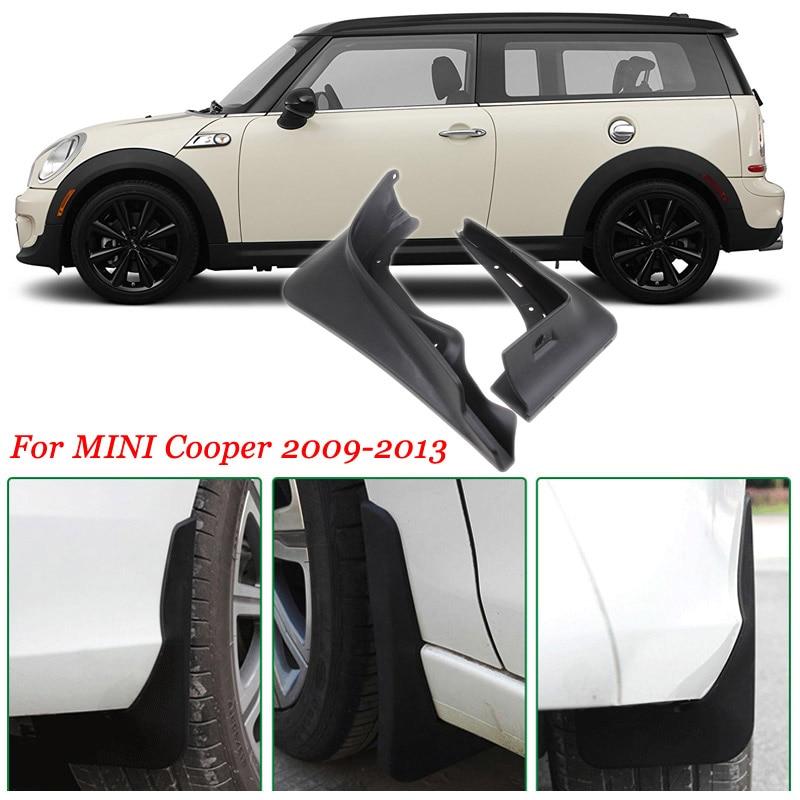 4pcs Premium Heavy Duty Molded Splash Mud Flaps Guards Fenders For BMW Mini Cooper 2009-2013