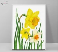 yellow flower canvas art posters and prints vintage picture unframed painting living room decor modern printing