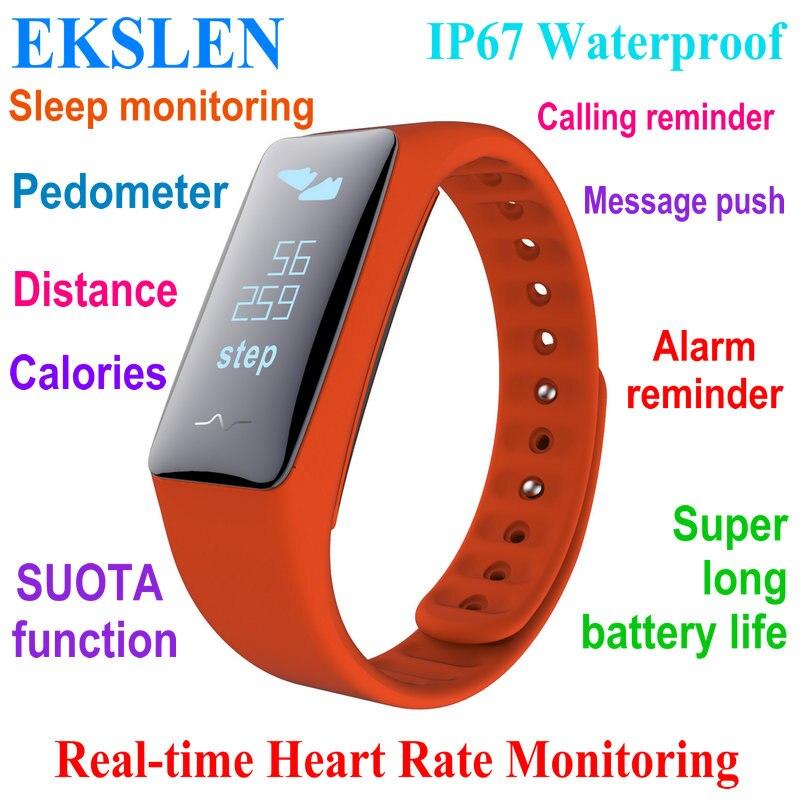 ekslen K5S Smart Bracelet Realtime Heart Rate Monitor IP67 waterproof Smart Band Wristband Fitness tracker Long Battery life