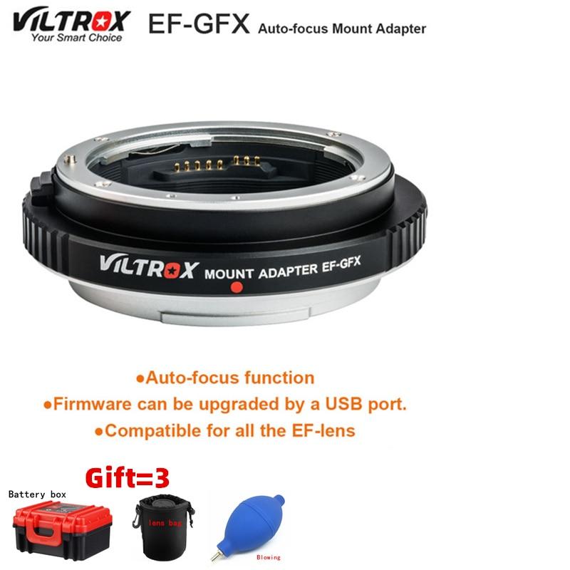 Viltrox EF-GFX AF adaptador de montaje de enfoque automático para objetivos Canon EF para montarse perfectamente en cámaras Fuji GFX-Mount de formato med